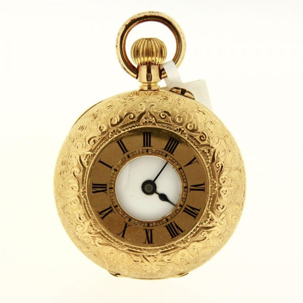 Helvetica Pocket Watch Vintage Half Hunter